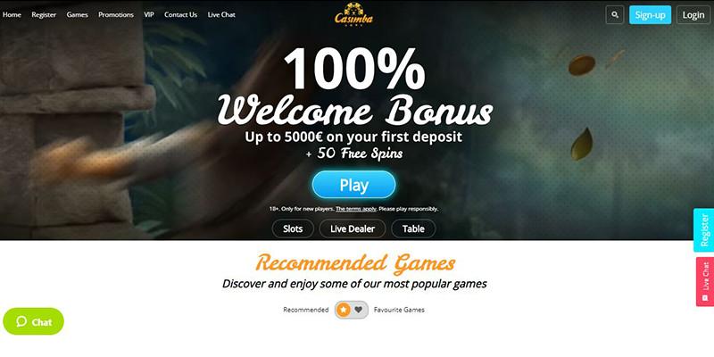 casimba welcome bonus
